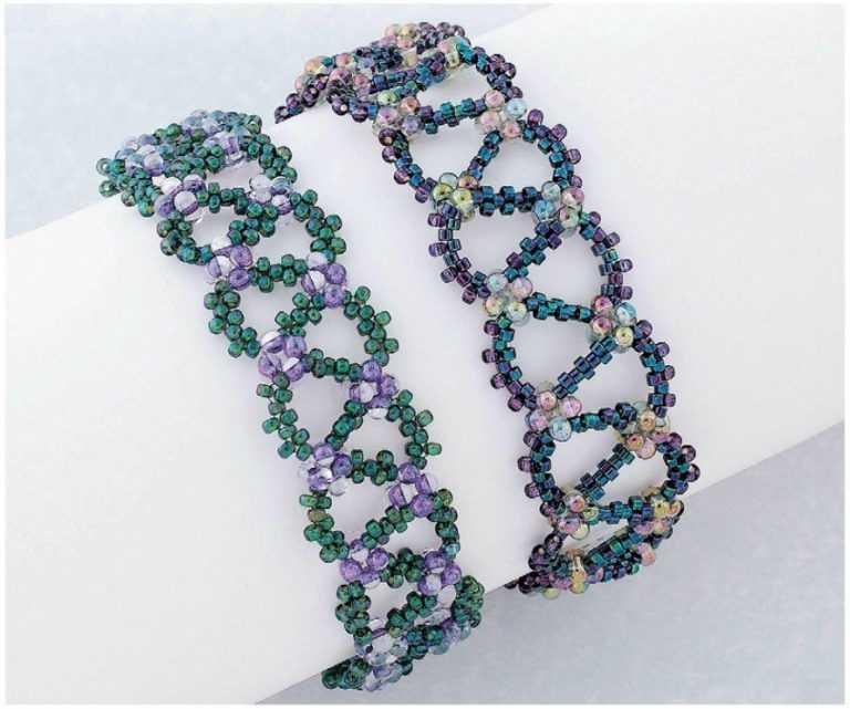 Легкие браслеты из бисера картинки