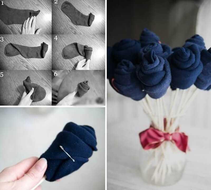 Букеты из носков своими руками пошаговые фото