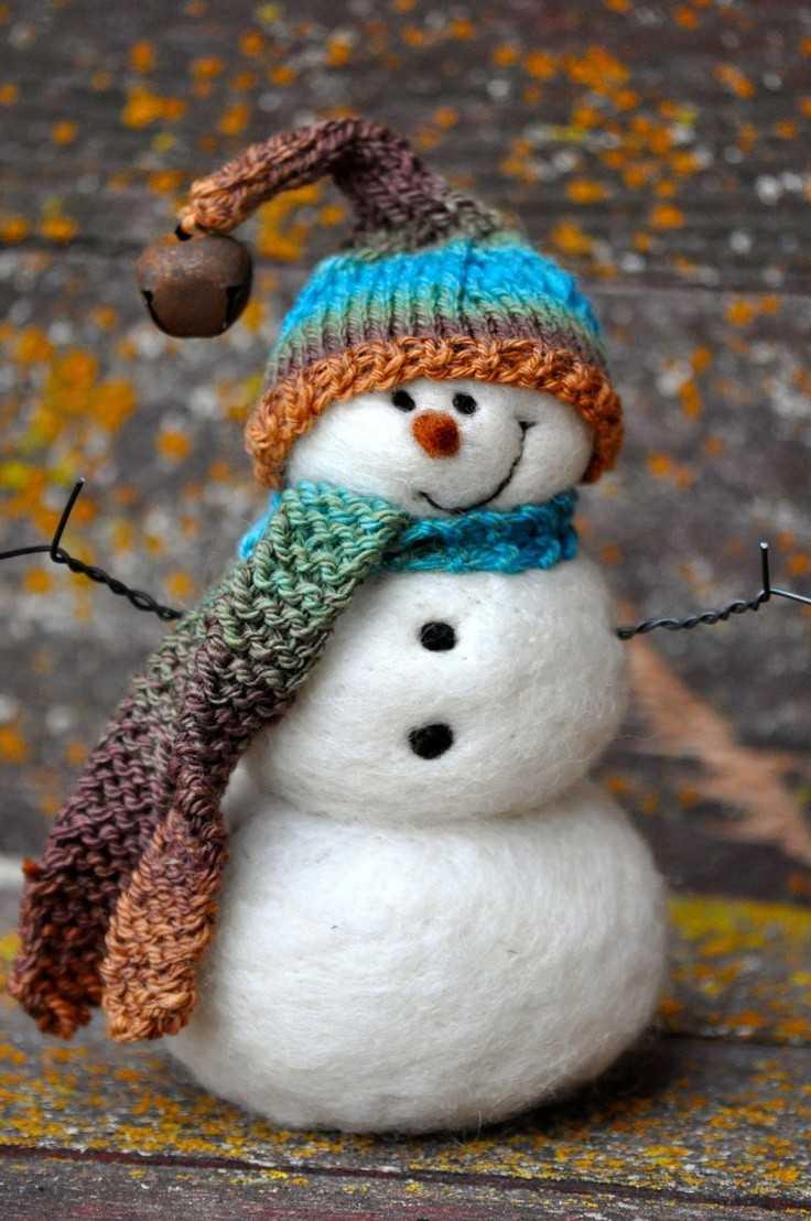Из чего сделать снеговика для поделки