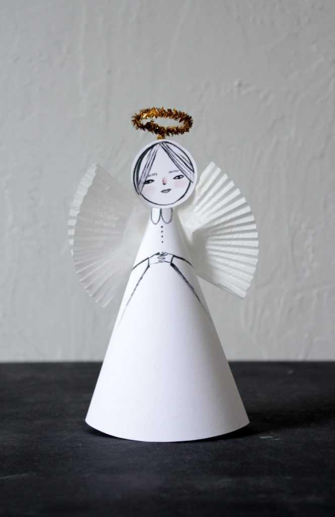 этом поделка ангела из бумаги объемная тобой