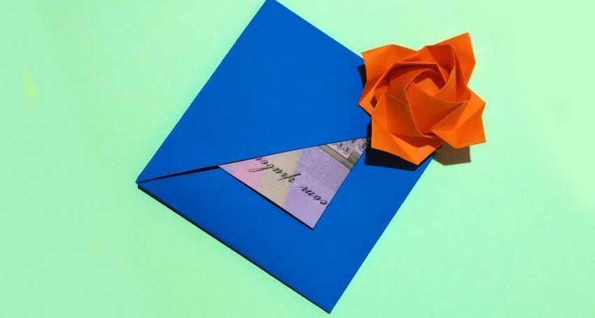 Как сделать открытку из бумаги без клея без ножниц