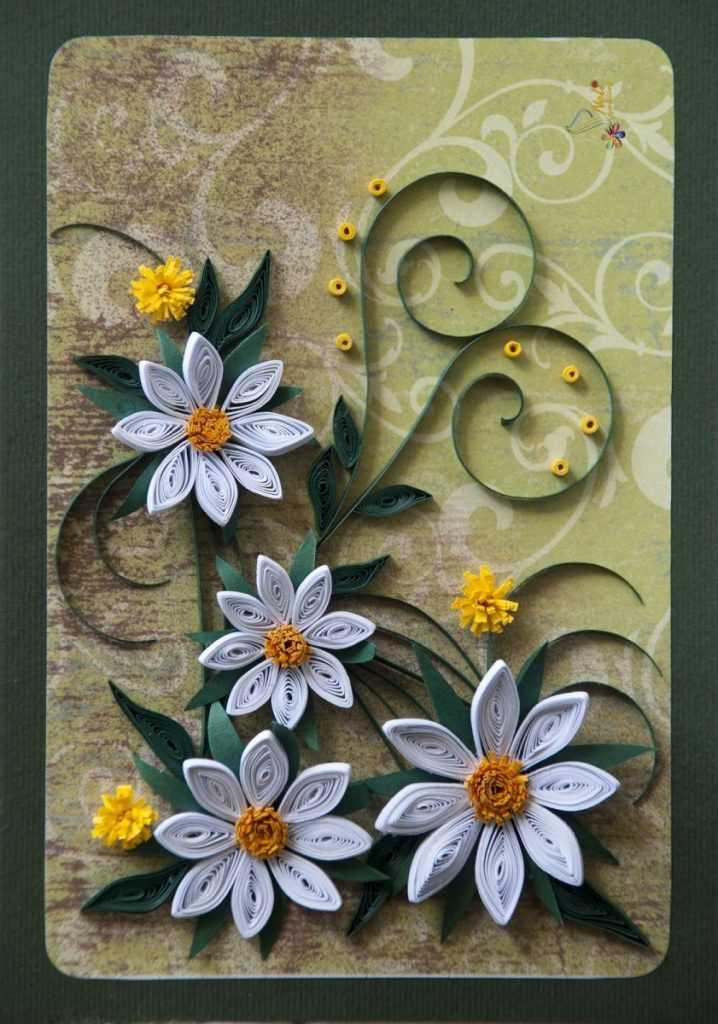 Открытки красивые цветы своими руками