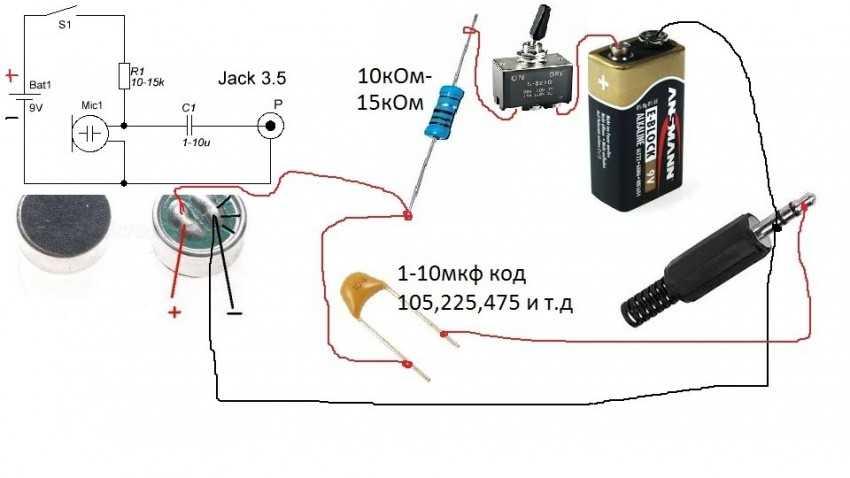 самодельный электретный микрофон для фотоаппарата различных видов птиц