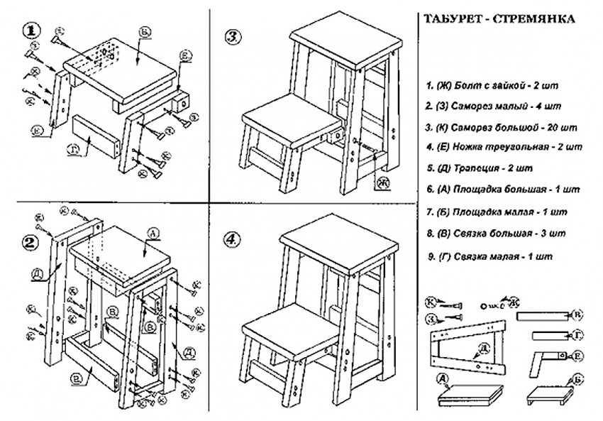 Табурет из ДСП 23 фото как сделать табуретку своими руками по чертежам с размерами Особенности самодельных табуретов