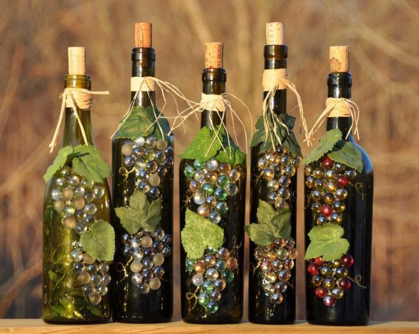 Как украсить пробку на бутылке