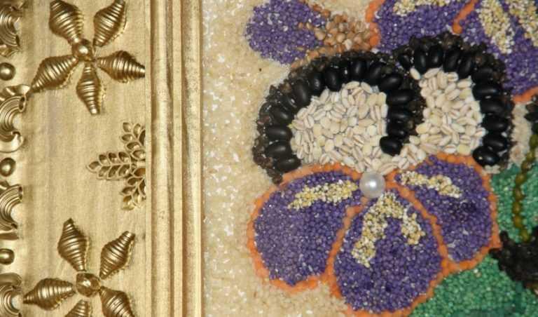 поделки из макарон и крупы фото красивый элегантный
