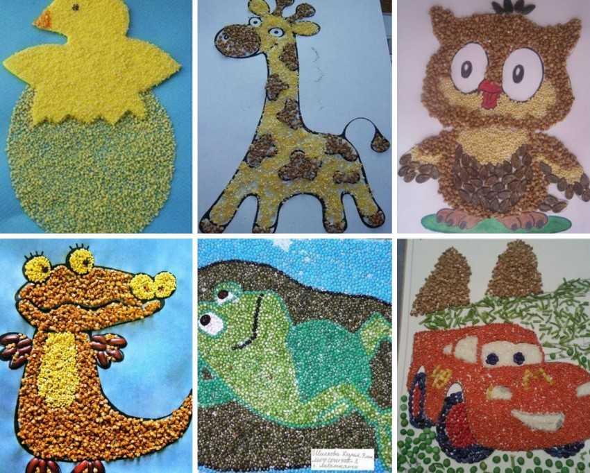 картинки из крупы для малышей поменять резинки