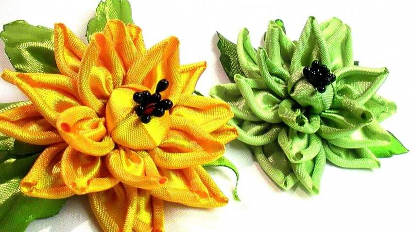 Цветы из лент своими руками: пошаговые инструкции
