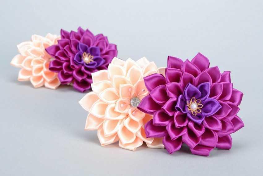 Цветы из лент своими руками – лучшие схемы, методы и секреты изготовления цветов из лент (70 фото)