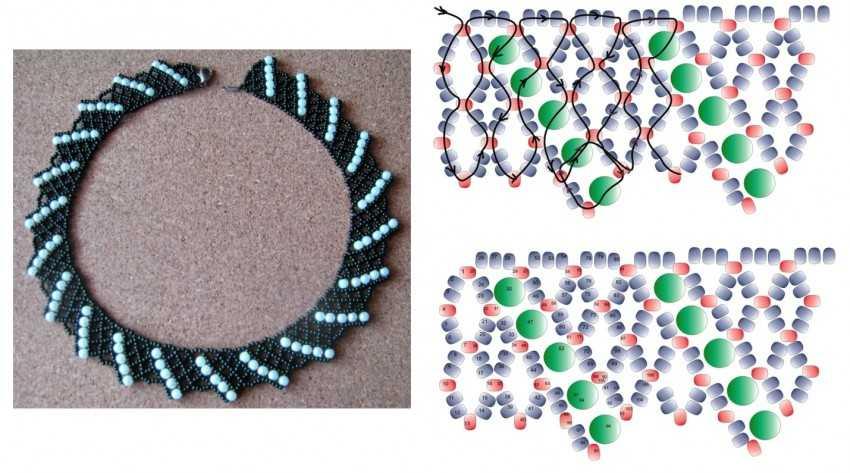 бисероплетение колье и ожерелья схемы