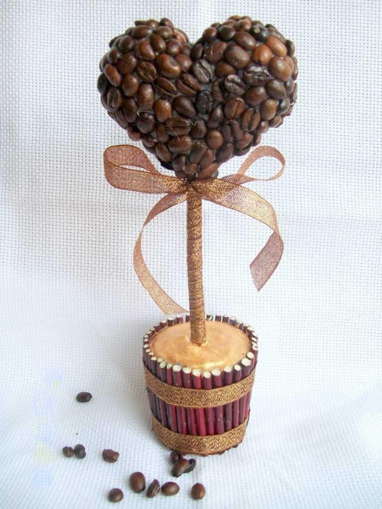 Поделки из кофейных зерен пошаговое фото