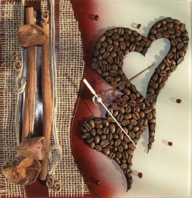 этом интересные картинки из зерен кофе легкий материал