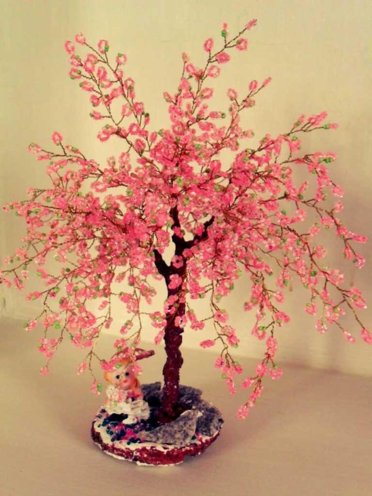 Картинки дерева из бисера сакура