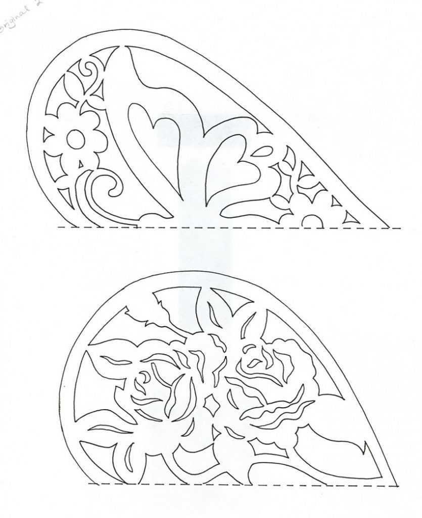 открытки вырезанные из бумаги цветы и шаблоны к ним стоит