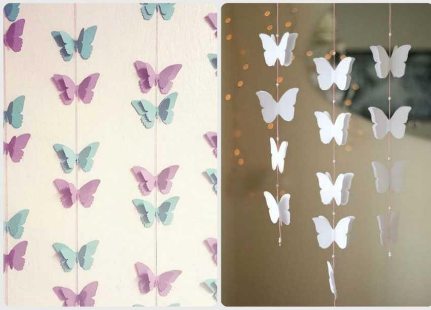 Бабочки из бумаги для украшения зала своими руками 17
