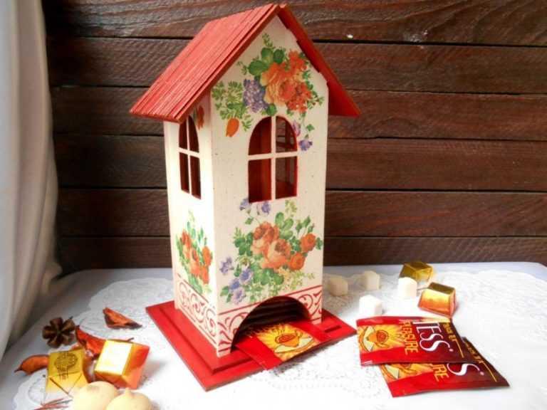 Красивый чайный домик своими руками 39