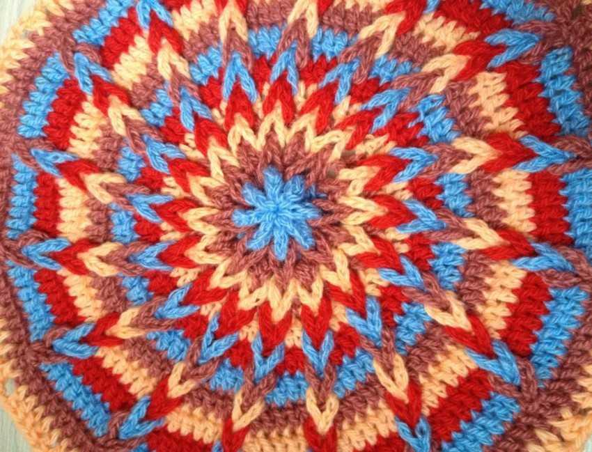 Вязание коврик на стул крючком 96
