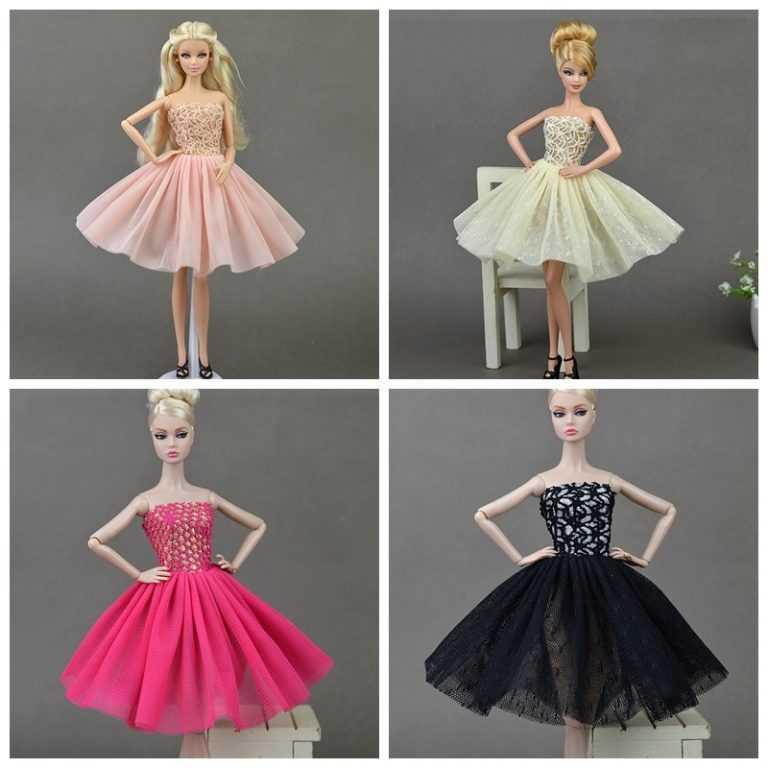 Как сшить короткое платье кукле 674