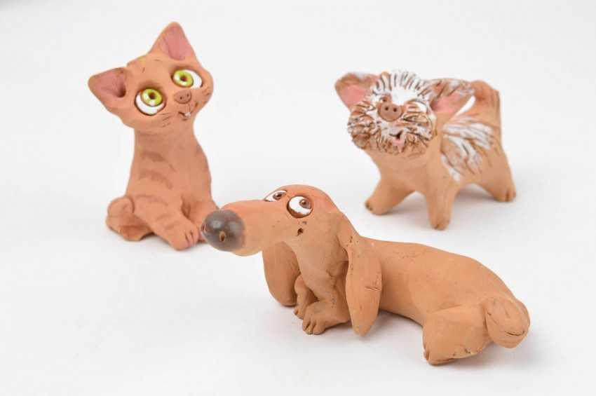 Как сделать поделку из глины животных