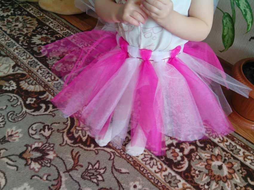 Детское платье с фатина своими руками