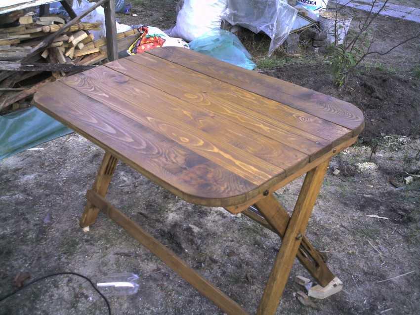 Дачная стол своими руками фото