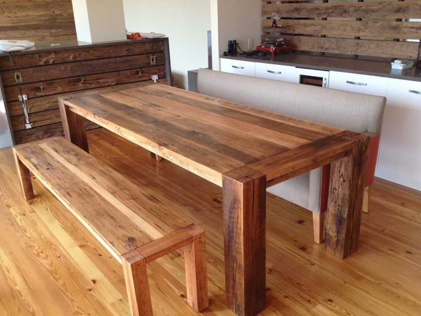 Изготовление из дерева столов своими руками 9