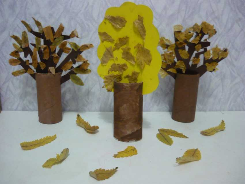 Поделки с детьми на тему деревья 8