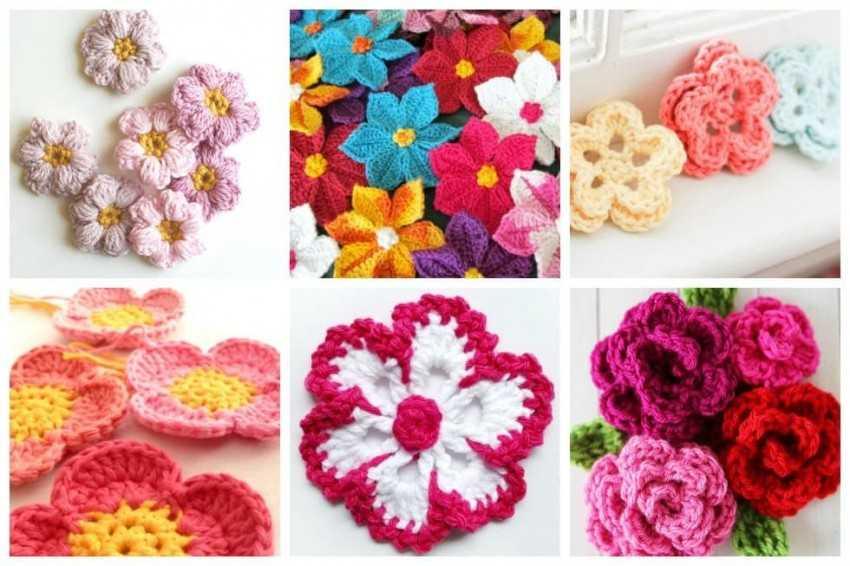 цветы крючком 95 фото вязания и нюансов создания объемных вязаных