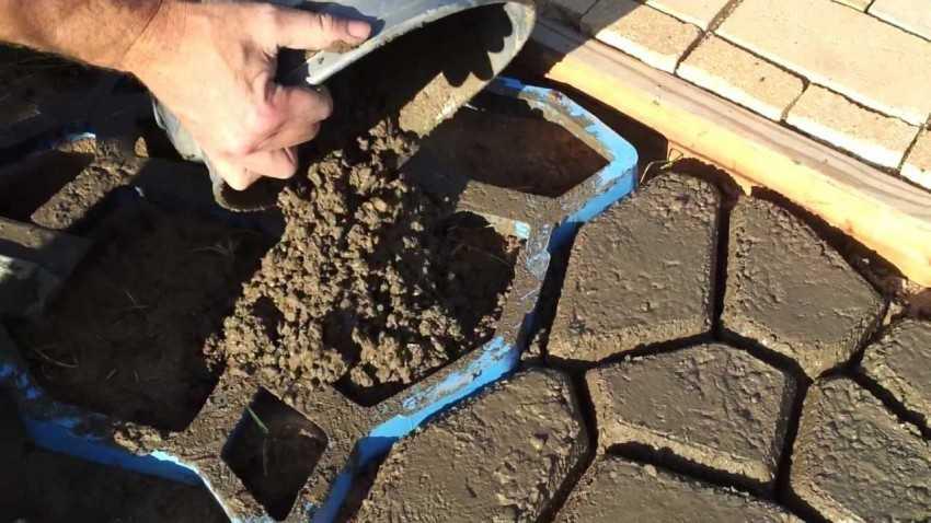 Садовая дорожка своими руками состав бетона 15