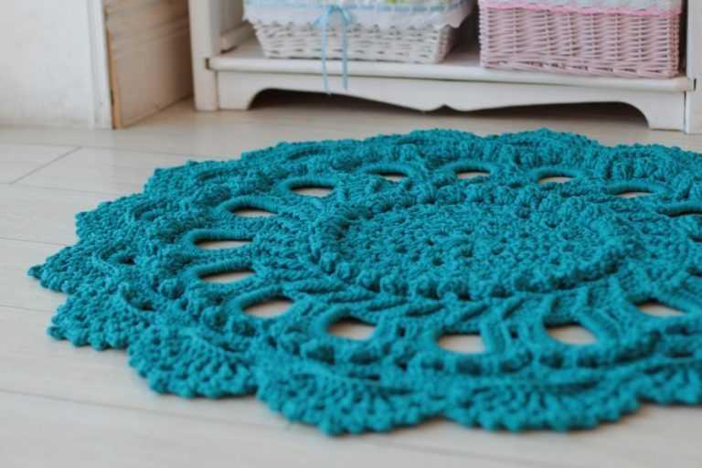 Вязание ковров крючком видео-уроки 43