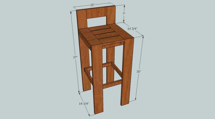 Как сделать барные стулья своими руками из дерева 91
