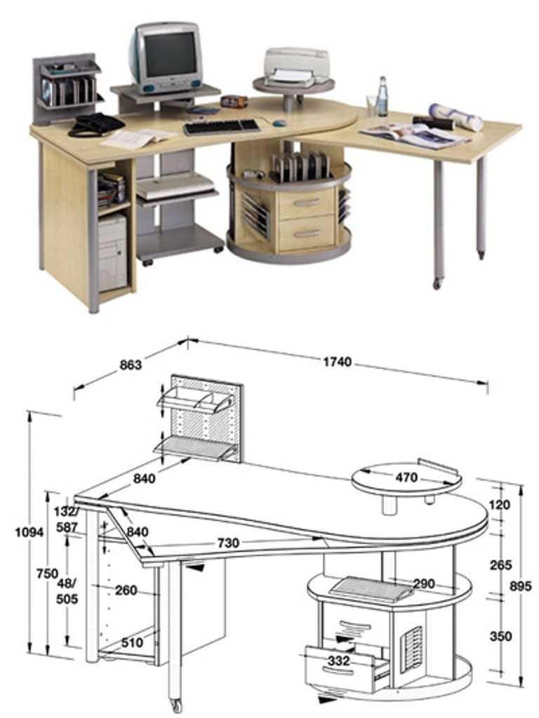 Надставка на компьютерный стол своими руками 24